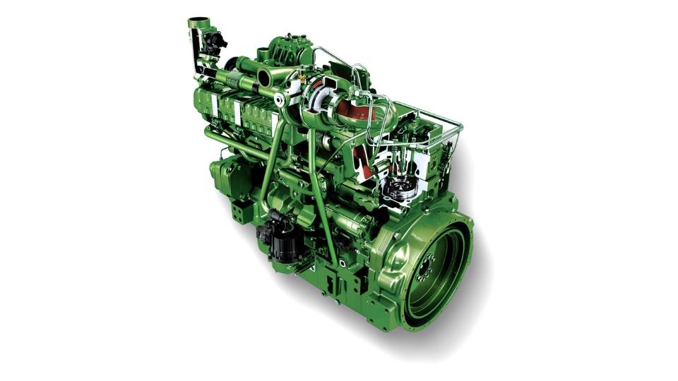 Комбайн John Deere S680 двигатель