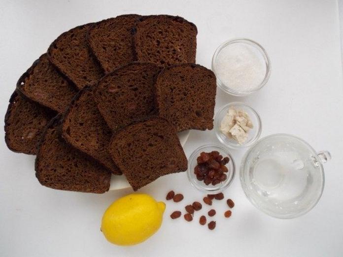 Ингредиенты для приготовления домашнего хлебного кваса