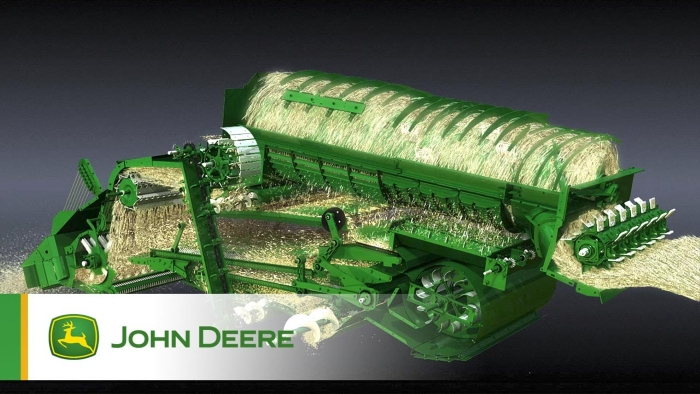 Схема роторного комбайна John Deere