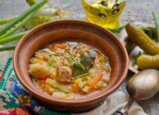 Солянка с картошкой и перловой крупой
