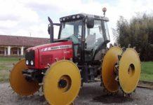 Стальные колеса трактора