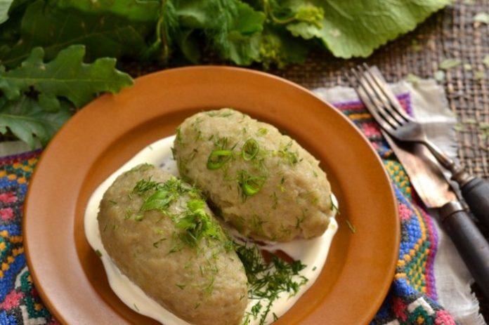 Картофельные клёцки с мясом