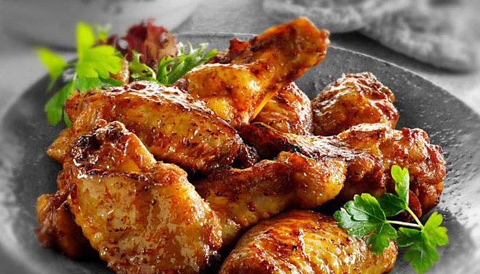 Обжигающе вкусные куриные крылышки