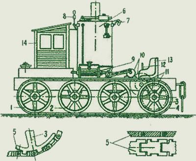 Подлинный чертеж парового трактора Фёдора Блинова