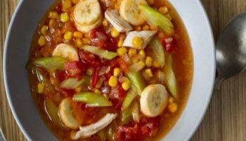 Банановый суп с курицей