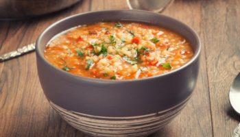 Чечевичный суп с курицей
