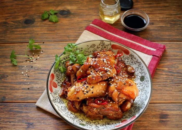 Курица с мёдом и имбирем по-индонезийски