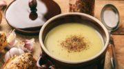 Противопростудный чесночный суп с картофелем