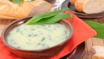 Суп из черемши с картофелем