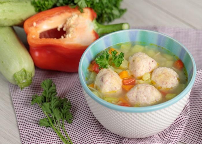 Суп из кабачков с фрикадельками