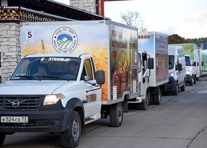В Калужской области прошел первый автопробег автолавок