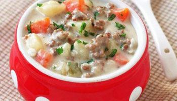 Суп из говяжьего фарша