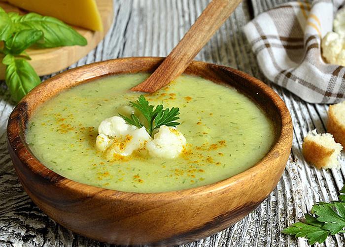 Сырный суп-пюре с цветной капустой