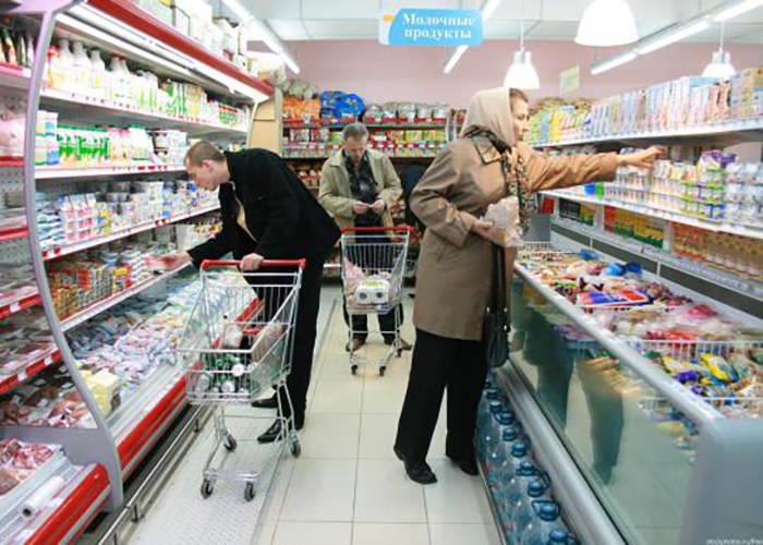 Цены на продукты в России оказались ниже чем на Украине