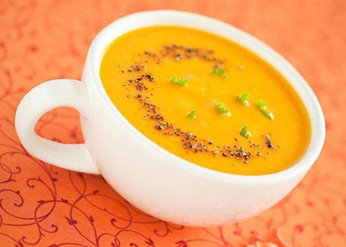 Морковный суп-пюре с молоком