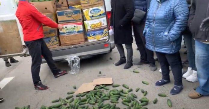 На юге Украины сотни фермеров вышли на акцию протеста