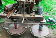 Самодельная роторная косилка для мотоблока