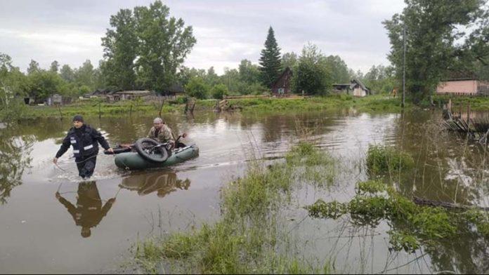 Вода ушла из 35 домов в четырех поселках Красноярского края