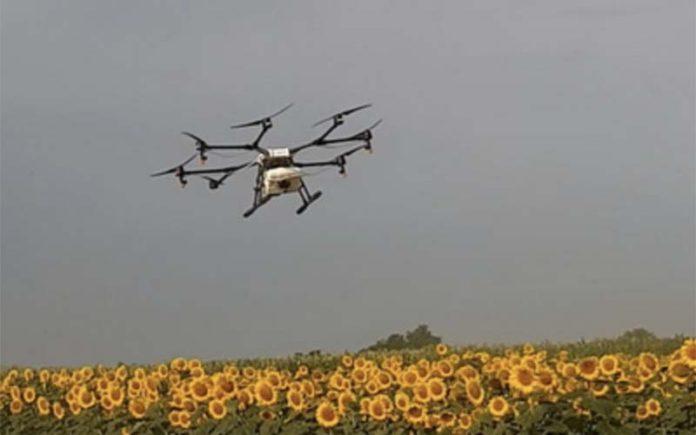 Беспилотник защитит сельскохозяйственные насаждения
