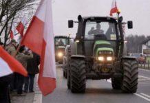 Протестующие польские фермеры въехали в Варшаву на тракторах