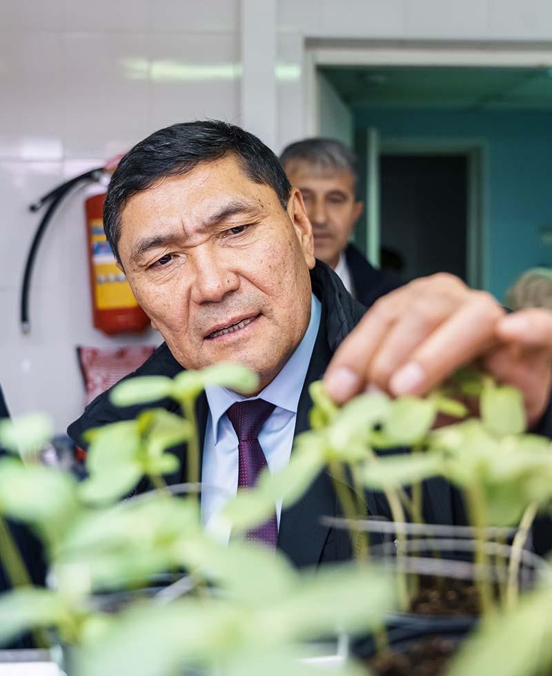 Министр сельского, водного хозяйства и регионального развития Кыргызской Республики Аскарбек Джаныбеков